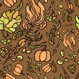 Zucche e foglie senza cuciture del modello royalty illustrazione gratis