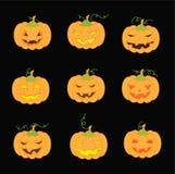 Zucche per Halloween Immagini Stock