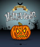 Zucche spaventose, Halloween Fotografie Stock Libere da Diritti