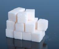 Zuccheri i cubi Fotografie Stock