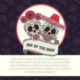 Zuccheri l'illustrazione di vettore di Catrina di calavera del cranio per il giorno dei morti Immagine Stock