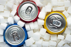 Zucchero in alimento Immagini Stock Libere da Diritti