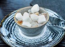 Zucchero bianco e marrone Fotografia Stock