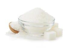 Zucchero in ciotola Fotografia Stock
