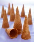 Zucchero dei coni di gelato Immagini Stock Libere da Diritti