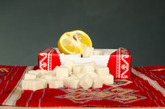 Zucchero del limone Fotografia Stock Libera da Diritti