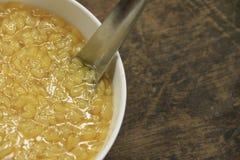 Zucchero del punto di ebollizione, soia Fotografia Stock Libera da Diritti