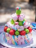Zucchero delizioso del dolce Fotografia Stock