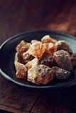 Zucchero della caramella di roccia Fotografia Stock