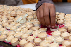Zucchero della noce di cocco in Siem Reap, Cambogia immagini stock