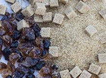 Zucchero di Brown Fotografia Stock
