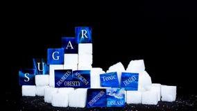 Zucchero di consumo fotografia stock