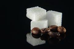 Zucchero e caffè Fotografie Stock Libere da Diritti