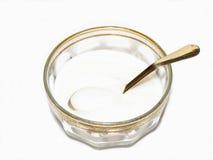 Zucchero e cucchiaio Fotografia Stock Libera da Diritti