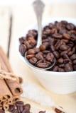 Zucchero e spezia di Coffe Fotografia Stock