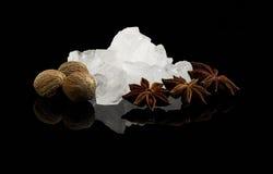 Zucchero e spezia di cristallo Fotografie Stock