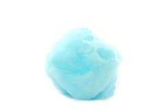 Zucchero filato blu, zucchero filato Fotografie Stock