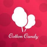 Zucchero filato Logo Emblem per i vostri prodotti, illustrazione di vettore di fatto a mano Fotografia Stock