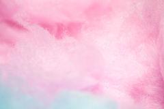 Zucchero filato variopinto nel colore morbido per fondo Immagine Stock