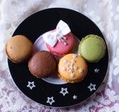 zucchero francese delle stelle di Natale dei macarons immagine stock