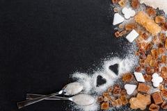 Zucchero, glucosio, caramello Fotografie Stock Libere da Diritti