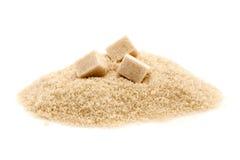 Zucchero grezzo o marrone Immagini Stock