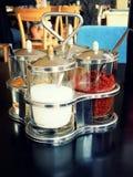 Zucchero & pepe Fotografia Stock