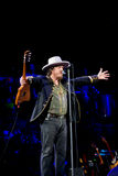Zucchero performs live Royalty Free Stock Photos