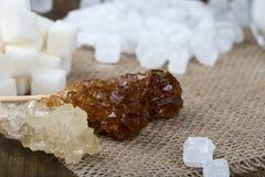 Zucchero su un primo piano del bastone Fotografia Stock