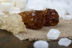 Zucchero su un primo piano del bastone Fotografia Stock Libera da Diritti