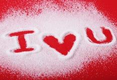 Zucchero ti amo Immagini Stock