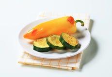 zucchini зажаренный в духовке перцем Стоковые Изображения