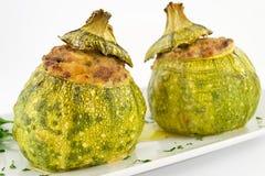 zucchini заполненный мясом Стоковая Фотография RF
