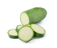 Zucchini на белой предпосылке Стоковая Фотография