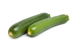 Zucchini. Green zucchini on a white background Stock Images