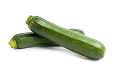 Zucchini. Isolated on a white background royalty free stock photo