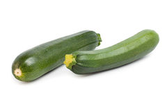 Zucchini. Isolated on a white background stock photography