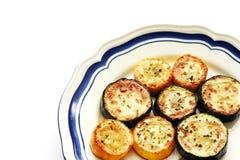 Zucchini amarelo verde de Panfried Imagem de Stock Royalty Free