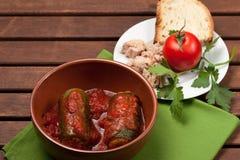 Zucchini angefüllt mit Thunfisch Lizenzfreie Stockfotos
