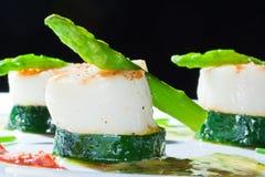 Zucchini and asparagus Stock Photos