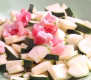 Zucchini and bacon Royalty Free Stock Images
