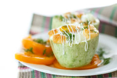 Zucchini baked with egg and cheese Stock Photography