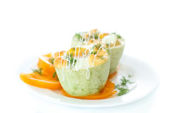 Zucchini baked with egg and cheese Royalty Free Stock Photo