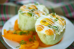 Zucchini baked with egg and cheese Royalty Free Stock Photography