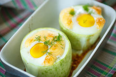 Zucchini baked with egg and cheese Royalty Free Stock Images