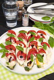 Zucchini baked with mozzarella and tomato Stock Image