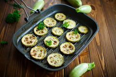 Zucchini baked with sauce Stock Image