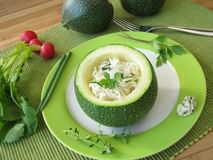 Zucchini ball stuffed with rice Royalty Free Stock Photos
