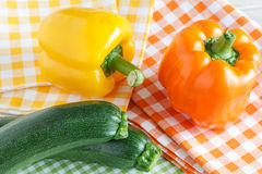 Zucchini and bell pepper Stock Photos