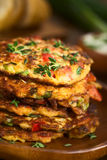 Zucchini and Bell Pepper Fritter Royalty Free Stock Images